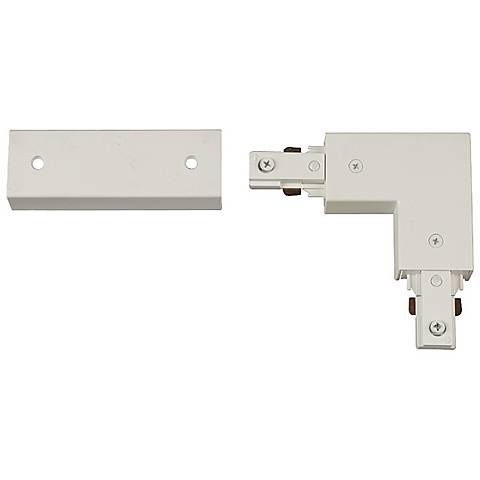 White L-Connector Right for Halo Single Circuit Tracks