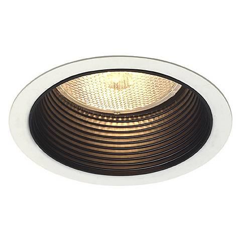 "Lightolier 5"" Line Voltage Black Step Recessed Light Trim"