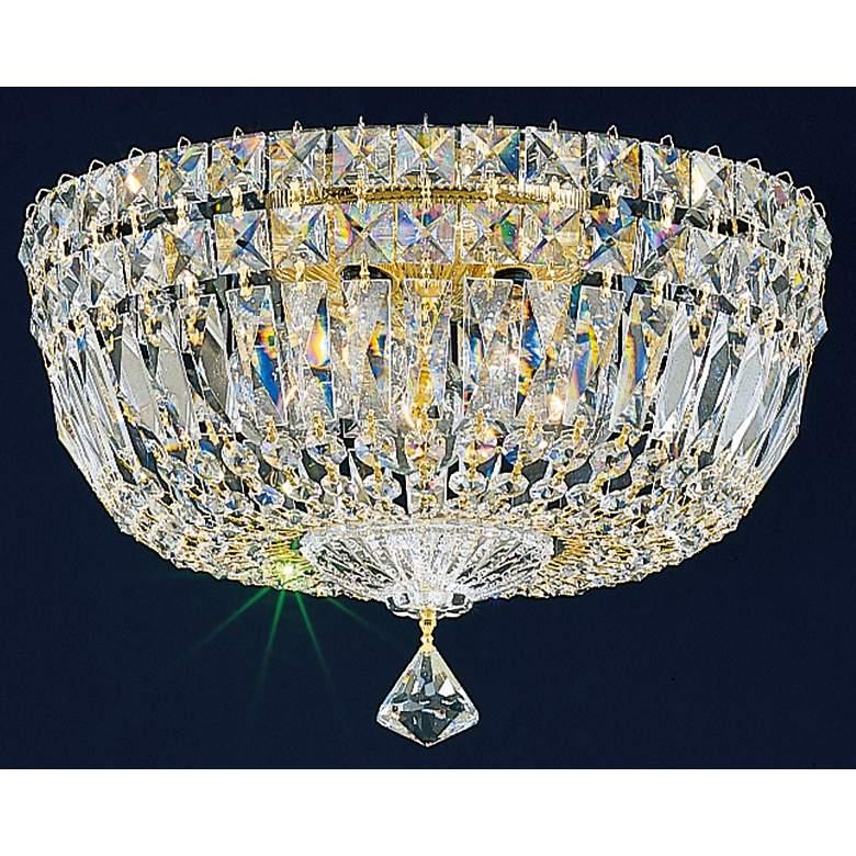"Schonbek Empire Petite Crystal 12"" Wide Ceiling Light"