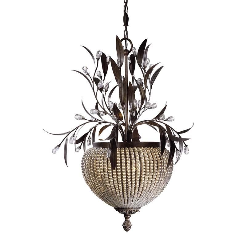 "Cristal de Lisbon Collection 27"" Wide Three Light Chandelier"