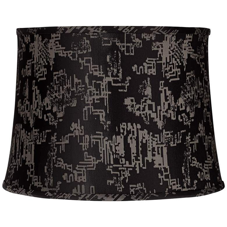 Black and Silver Calligraphy Lamp Shade 14x16x11.5 (Spider)