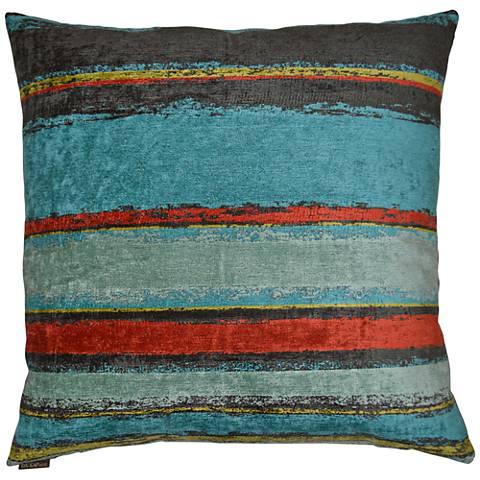 "Elijah Multi-Color 24"" Square Decorative Throw Pillow"