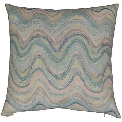 "Florence Multi-Color 24"" Square Decorative Throw Pillow"