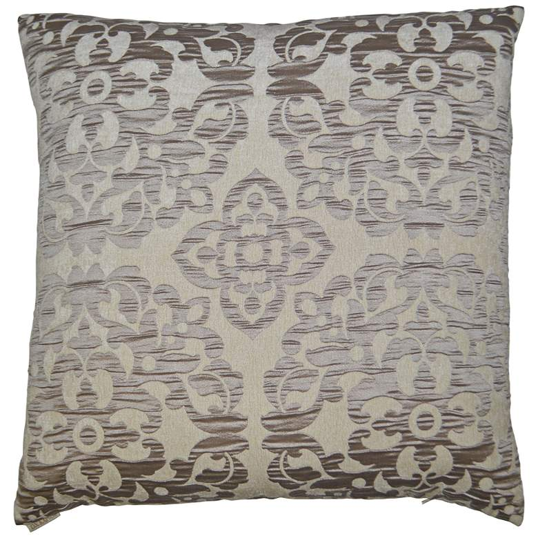 "Monte Taupe 24"" Square Decorative Throw Pillow"