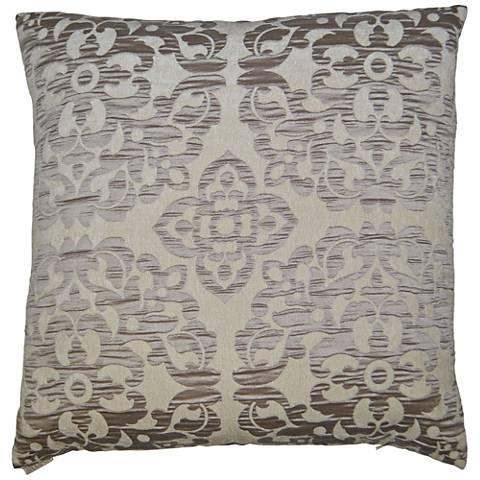 "Monte Taupe 24"" Square Decorative Throw Pillow"