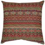 "Gemology Henna 24"" Square Decorative Throw Pillow"