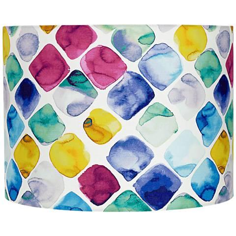 Multi-Color Diamond Drum Lamp Shade 15x15x11 (Spider)
