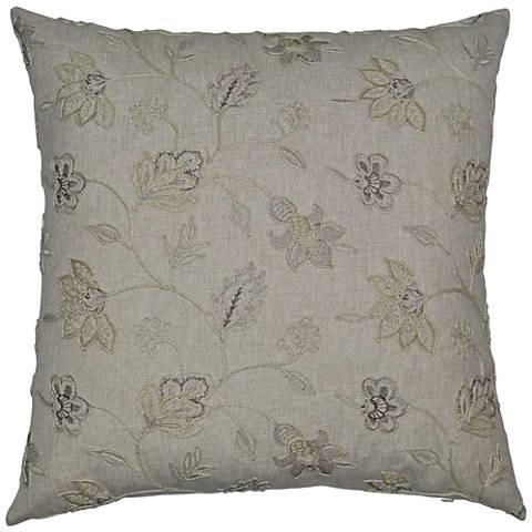 "Clippert Linen 24"" Square Decorative Throw Pillow"