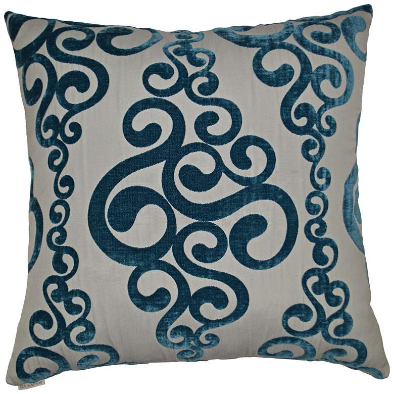 "Harpo Peacock 24"" Square Decorative Throw Pillow"