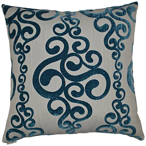 "Harpo Peacock 24"" Square Decorative Throw Pillow"