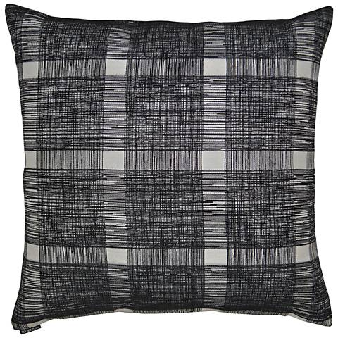 "Checkmate Black 24"" Square Decorative Throw Pillow"