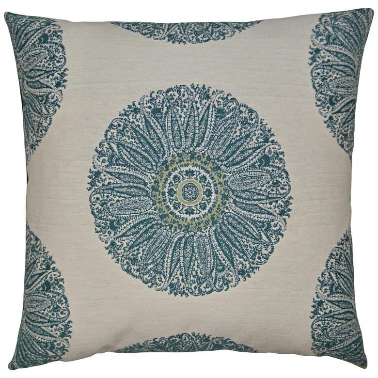 "Crillon Aqua 24"" Square Decorative Throw Pillow"
