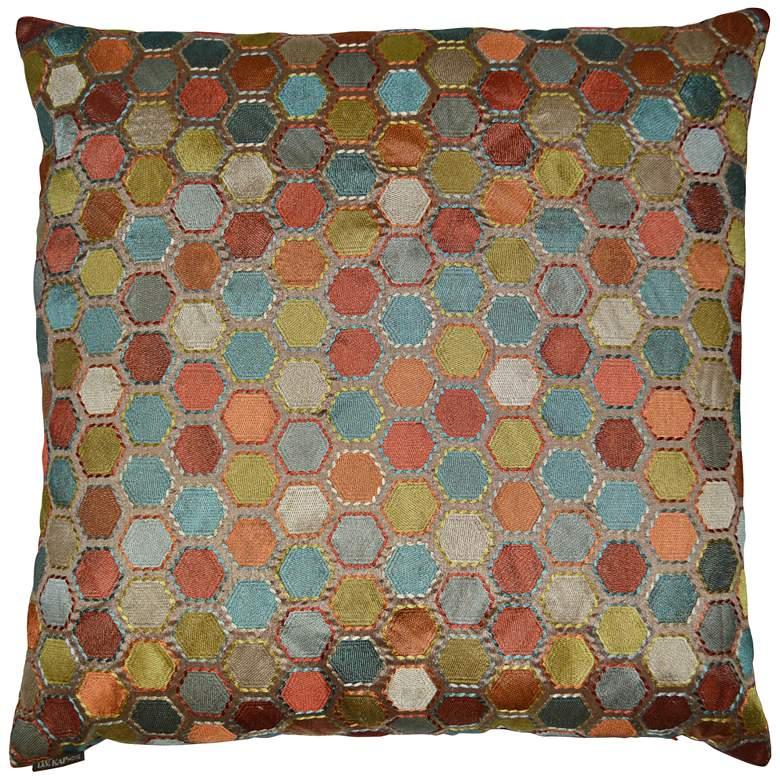 "Gem Market Henna 24"" Square Decorative Throw Pillow"
