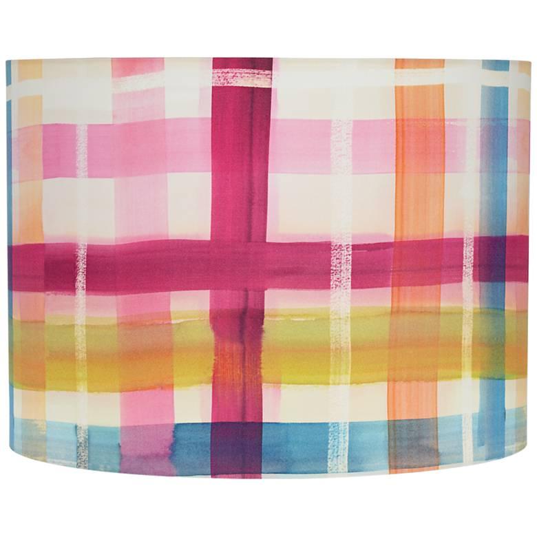 Multi-Color Plaid Drum Lamp Shade 15x15x11 (Spider)