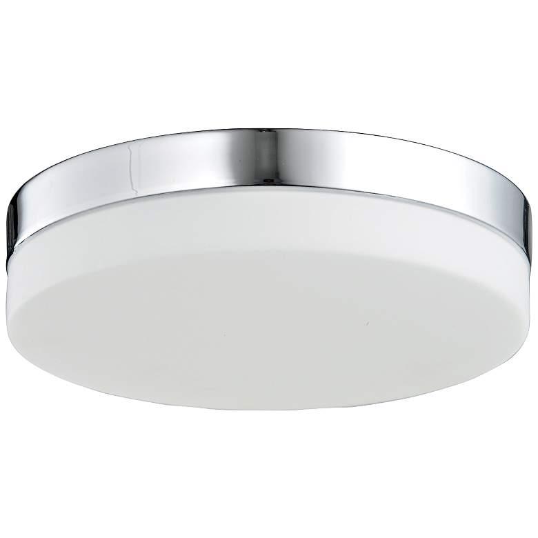 """Cermack St. 9"""" Wide Round Chrome Modern LED Ceiling Light"""
