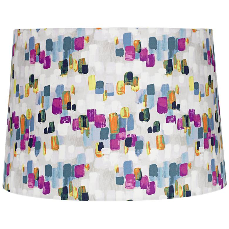 Multi-Color White Paint Stroke Lamp Shade 14x16x11 (Spider)