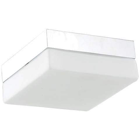 "Avenue Cermack St. 11"" Wide Chrome Square LED Ceiling Light"