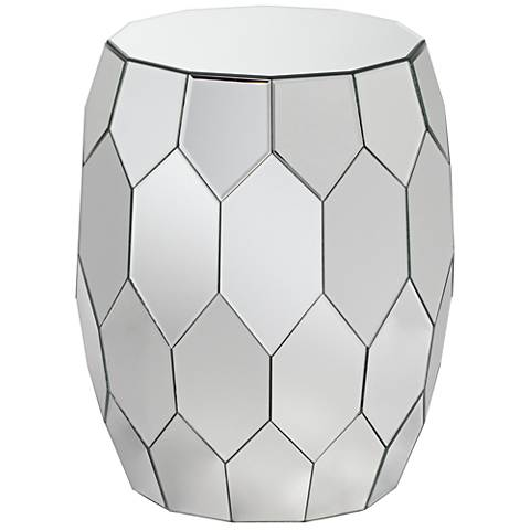 Vezzena Octagon Mirrored End Table
