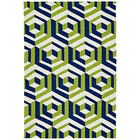 Kaleen Escape ESC06-22 Navy Outdoor Area Rug