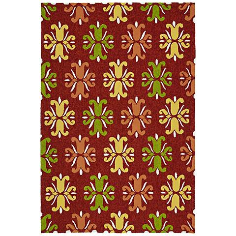 Kaleen Escape ESC07-25 Red Outdoor Area Rug