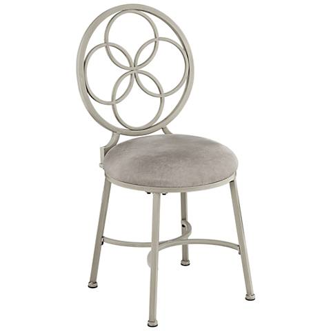 Hillsdale Donnelly Gray Vanity Stool
