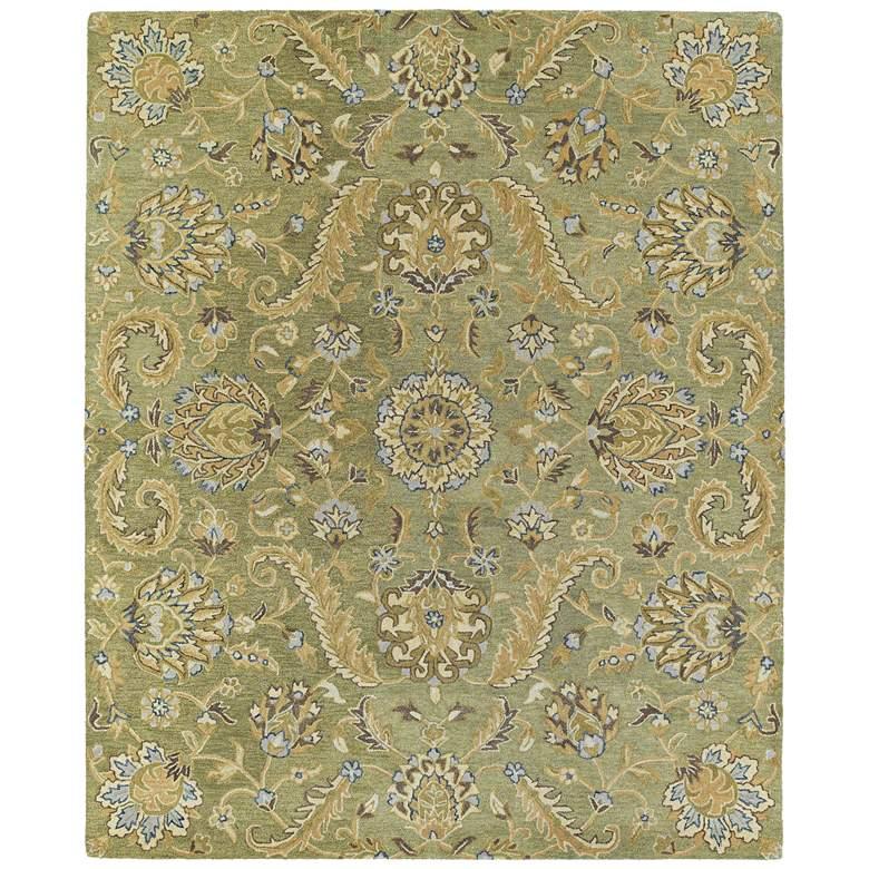 """Kaleen Helena 3205-50 5' x 7'9"""" Green Wool Area Rug"""