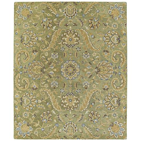 Kaleen Helena 3205-50 Green Wool Area Rug