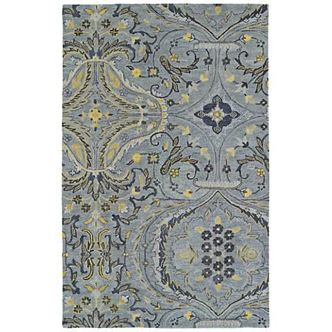 Kaleen Helena 3206-75 Gray Wool Area Rug