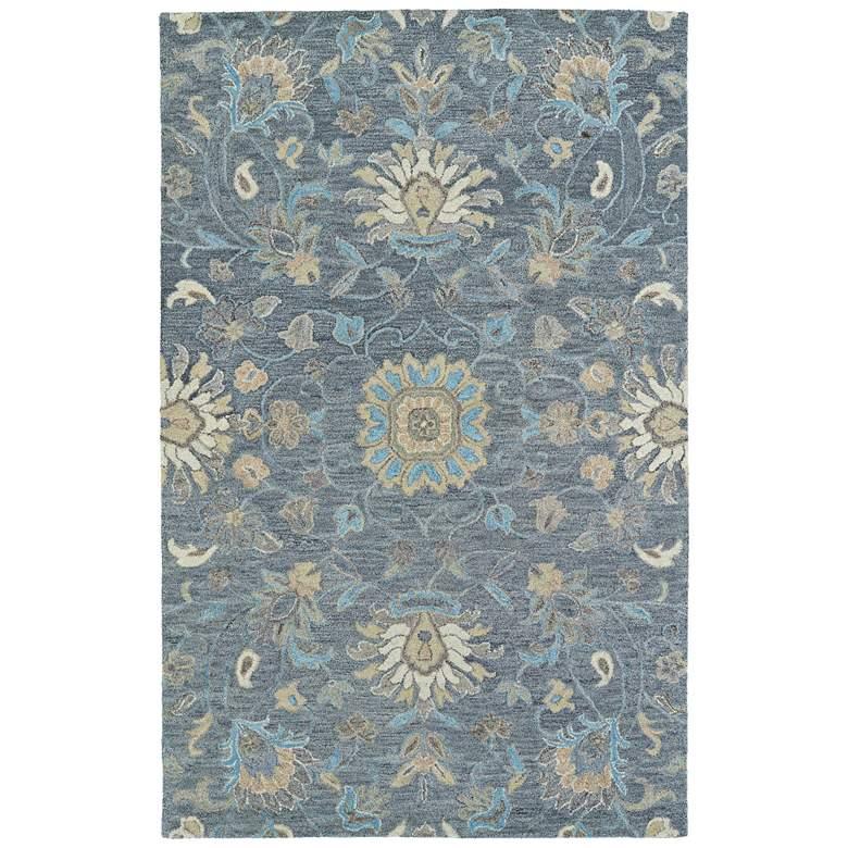 "Kaleen Helena 3207-68 5' x 7'9"" Graphite Wool Area Rug"
