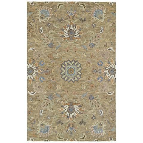 Kaleen Helena 3207-82 Light Brown Wool Area Rug