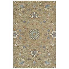 "Kaleen Helena 3207-82 5' x 7'9"" Light Brown Wool Area Rug"