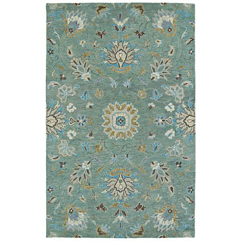 Kaleen Helena 3207-88 Mint Wool Area Rug