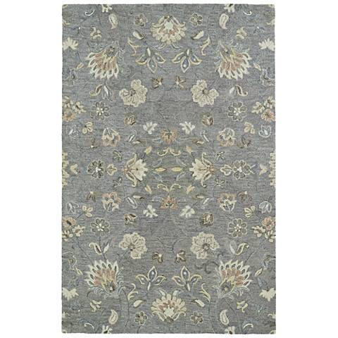 Kaleen Helena 3208-75 Gray Wool Area Rug