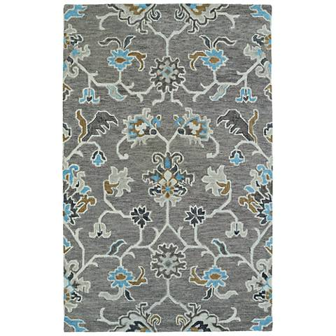 Kaleen Helena 3209-75 Gray Wool Area Rug
