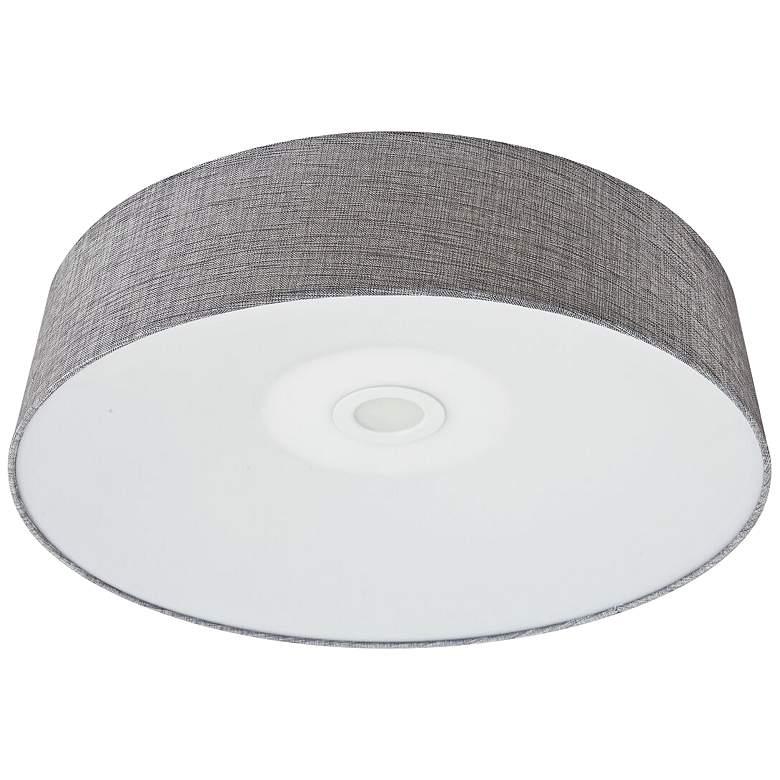 """Avenue Cermack St. 24"""" Wide Gray Linen LED Ceiling Light"""