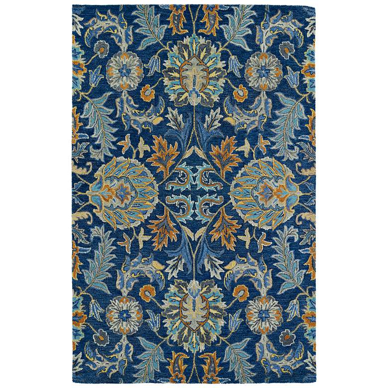 Kaleen Helena 3212-17 Blue Wool Area Rug