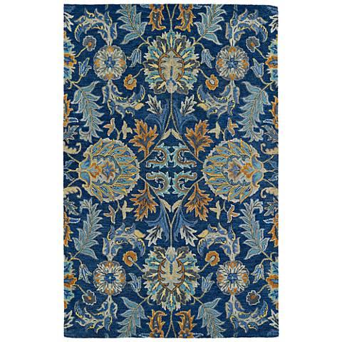 Kaleen Helena 3212-17 Blue Wool Area Rug