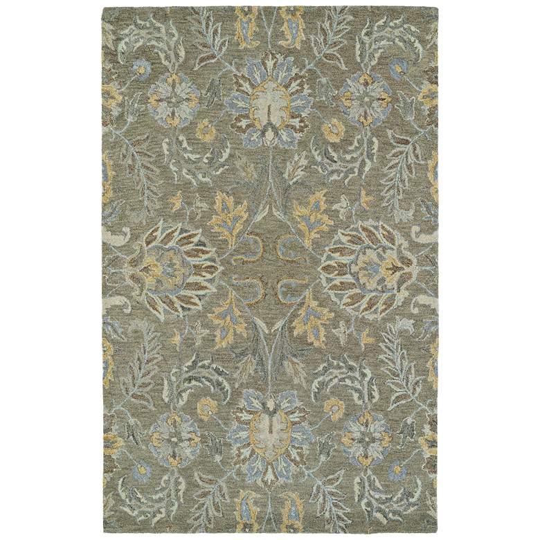 """Kaleen Helena 3212-59 5' x 7'9"""" Sage Wool Area Rug"""