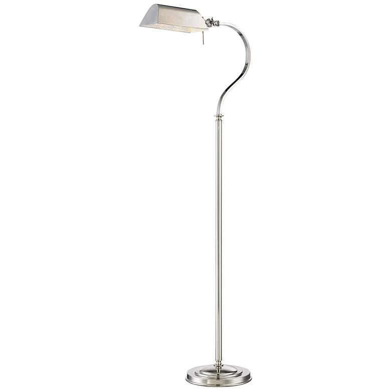 Lite Source Georgino Chrome Metal Piano Floor Lamp