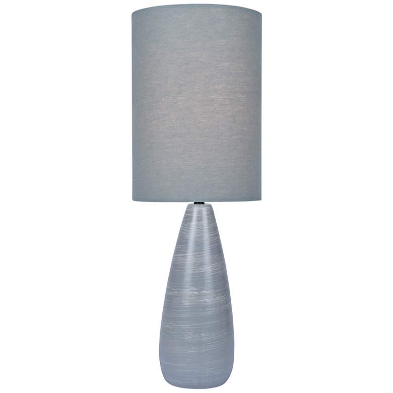 """Quatro 26 1/4""""H Gray Modern Table Lamp with Gray Shade"""