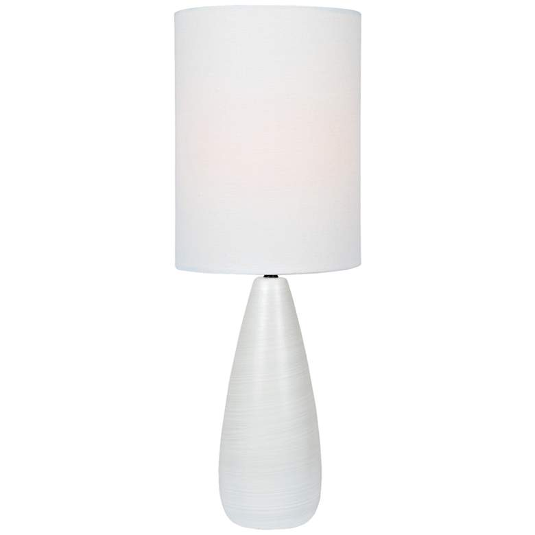 "Quatro 26 1/4""H White Modern Table Lamp with White Shade"