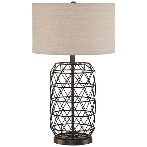 Lite Source Cassiopeia Black Metal Table Lamp