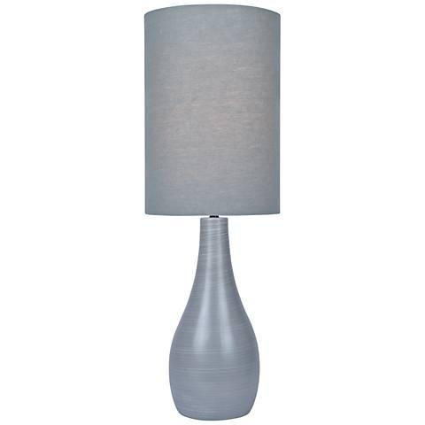"Quatro 31"" High Gray Modern Table Lamp with Gray Shade"