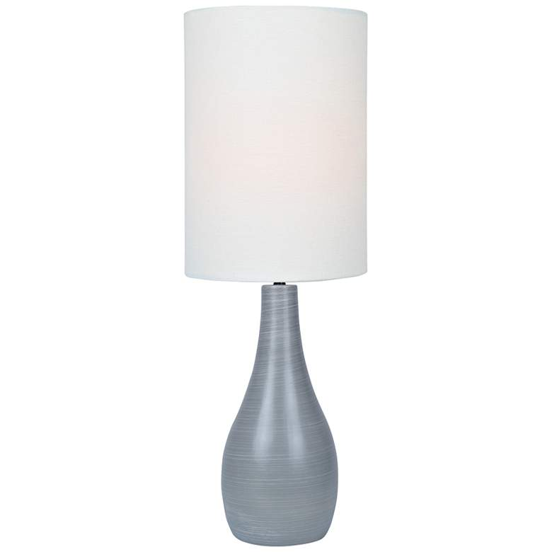 "Quatro 31"" High Gray Modern Table Lamp with White Shade"