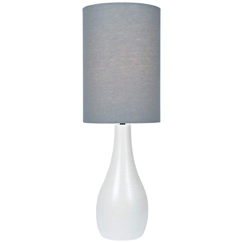 """Quatro 31"""" High White Modern Table Lamp with"""