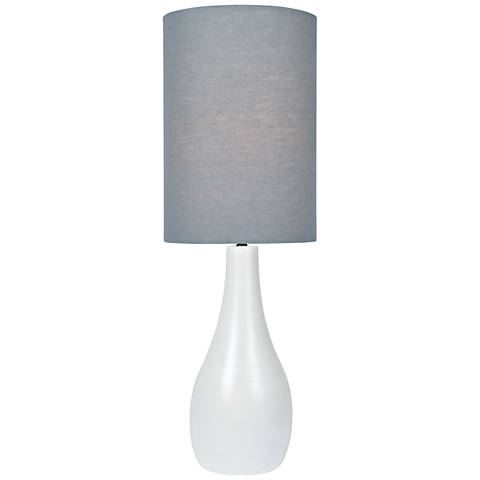"Quatro 31"" High White Modern Table Lamp with Gray Shade"
