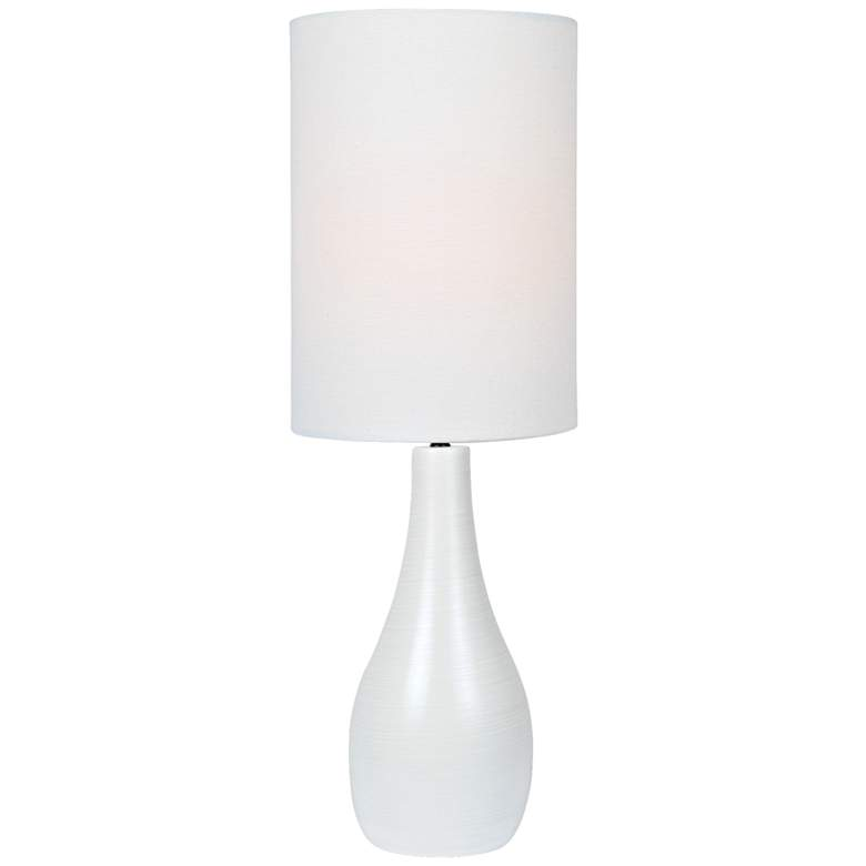 "Quatro 31"" High White Modern Table Lamp with White Shade"