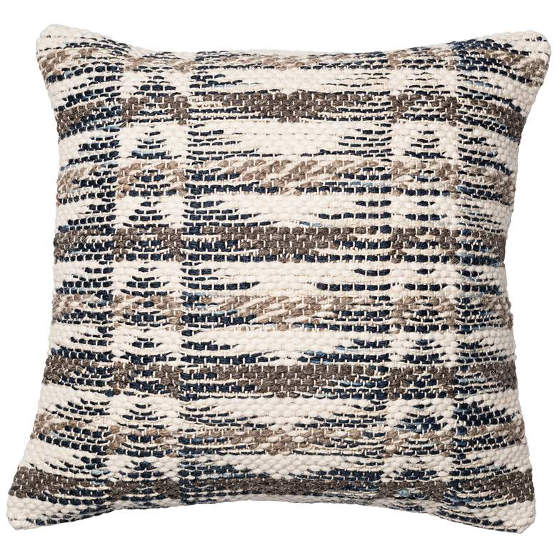 "Urban Boho Multicolor Gray Abstract 22"" Square Accent Pillow"