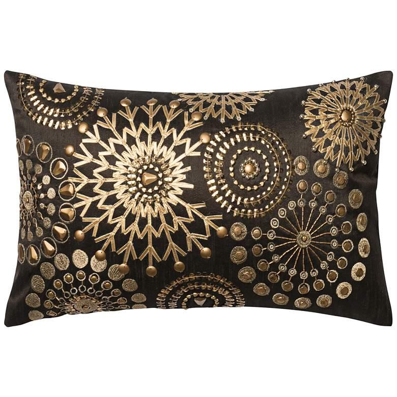 """New Classics Gold Mandala 21"""" x 13"""" Accent Pillow"""