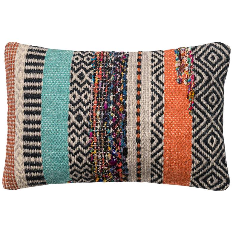 "Urban Boho Multicolor 21"" x 13"" Lumbar Accent Pillow"